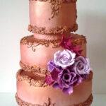 Svatební dort zlatý