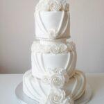 Svatební dort bílý